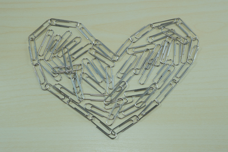 paperclips: Paper-clips in heart shape