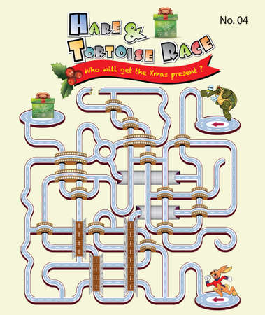 Hare and Tortoise race_Xmas present photo