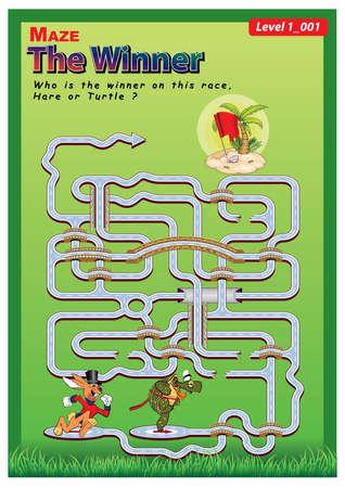 Maze-the winner 003 Vector