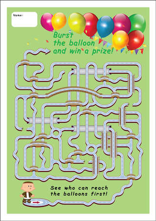 party game 2-who can reach the balloons first Vector