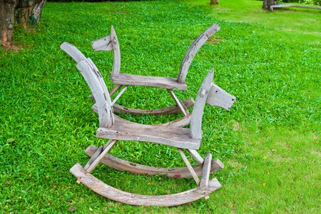 horse chair Stock Photo