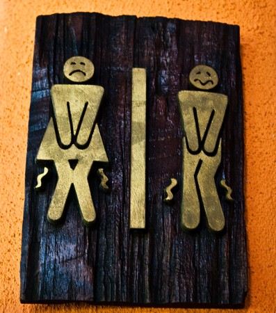 bathroom sign: rest room