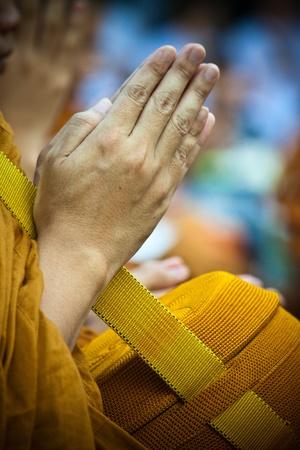 monk: pray Stock Photo