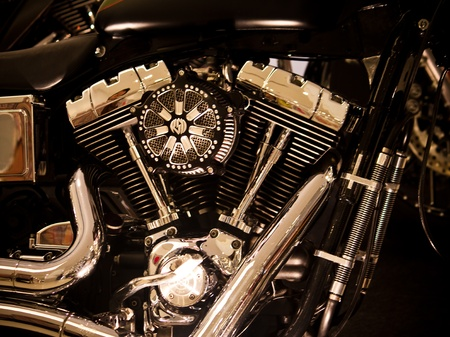 motorcycle engine Editorial