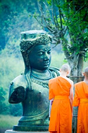 buddhist monk: monastery Editorial