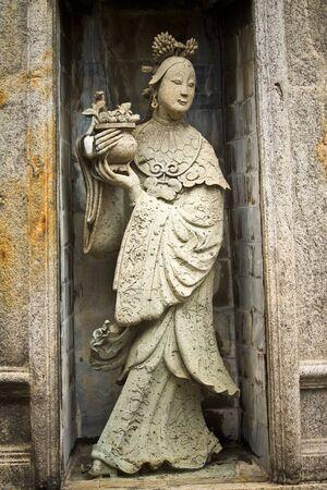 stone buddha: chinese sculpture Stock Photo