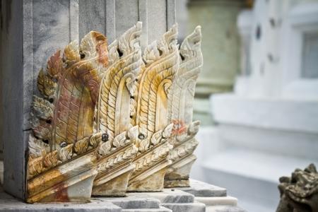 oriental sculpture in Wat Thai photo