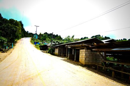 rural village on the mountain