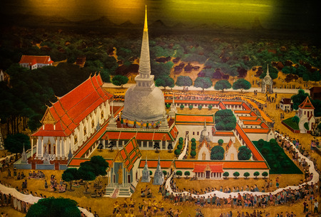 thai painting: Thai painting of a tradition Editorial
