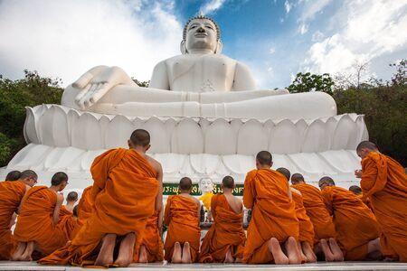 birthday religious: monks activity Stock Photo
