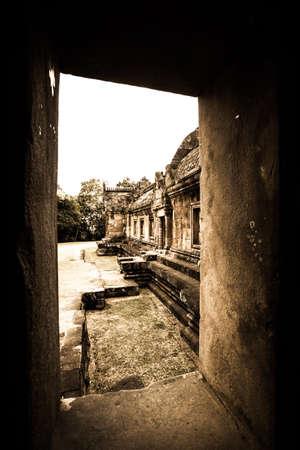 Castle s ancient Khmer civilization Stock Photo