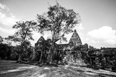ancient civilization: Castle s ancient Khmer civilization Stock Photo