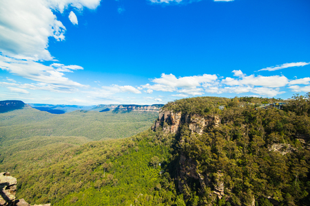Blue mountains national park in New south wales Australia