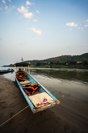 The cruise on the Mekong River by boat fishermen.