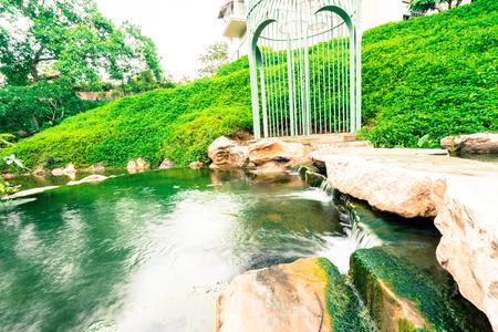 beautiful nature garden landscape Stock Photo
