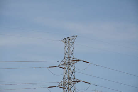 polarity: High voltage Stock Photo