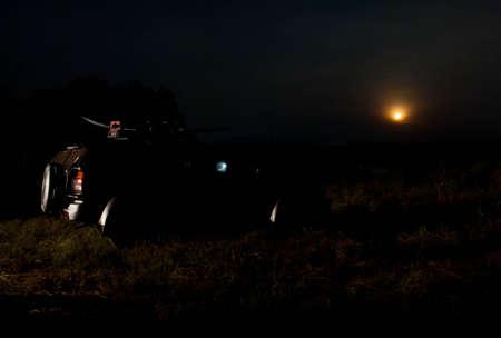 Car park under the moonlight Stock Photo - 17627034