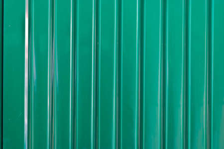 grunge metal fence   Green Galvanized Corrugated Sheet photo