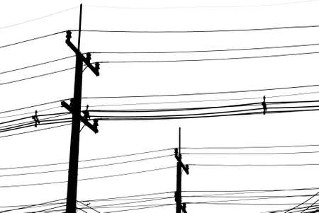 electric wire black and  white