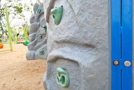 Rock climbing wall for children  photo