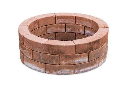 Brick laid in a circle  isolated on a white background photo