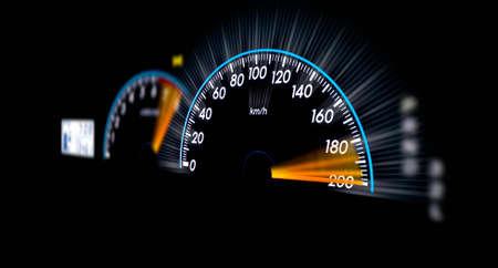 Speedometer ,Car speedometer and counter photo