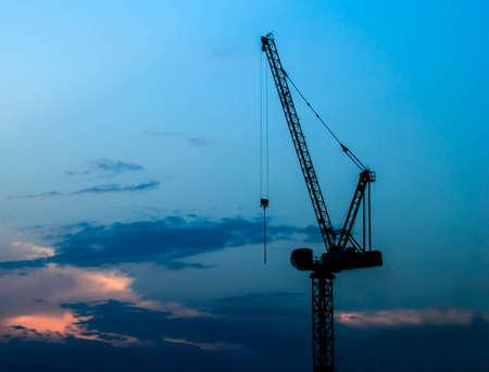 Crane with the bluesky photo