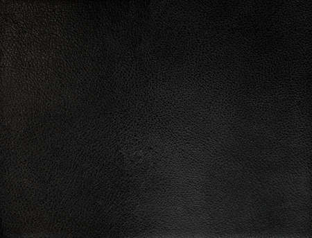 cuero vaca: Primer plano de perfecta textura de cuero negro Foto de archivo