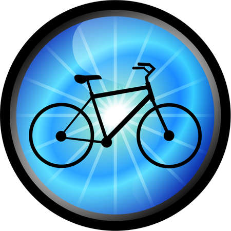 Glossy icon bicycle , illustration