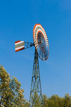Old-style Farm Windmill for pumping water