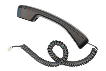 telephone hand set isolated against a white Stock Photo
