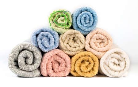 Towel isolated on white  Stock Photo