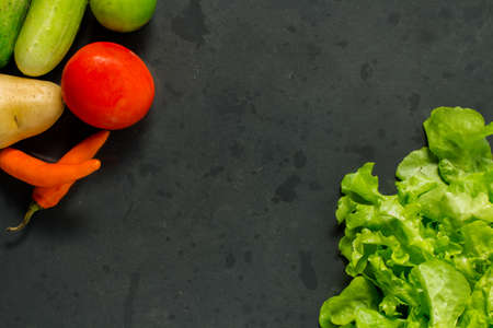abstract design vegetables on baking tray  photo