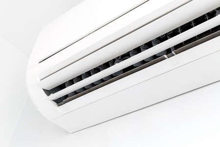 Closeup white air conditioner in room Stockfoto