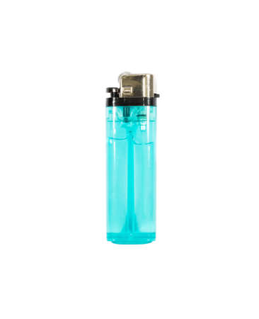 blue lighter isolated on a white background. photo