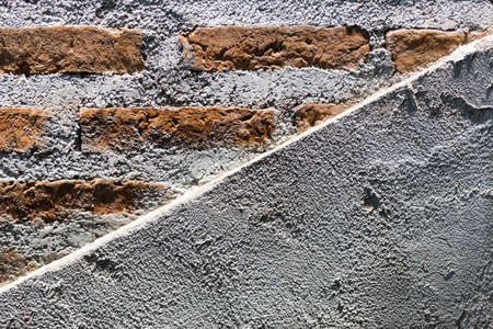 half brick half concrete wall background