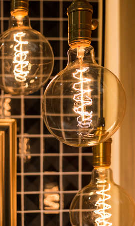 filament: lamps with glowing filament under the lampshade