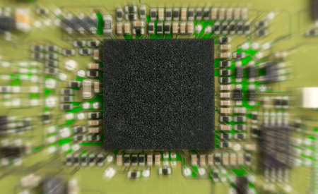 electronic circuit board  with zoom effec