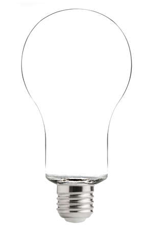 Electric light bulb isolated on a white background Stock Photo