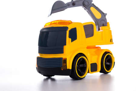 excavator toy isolated on white background,Toys for Building Skills