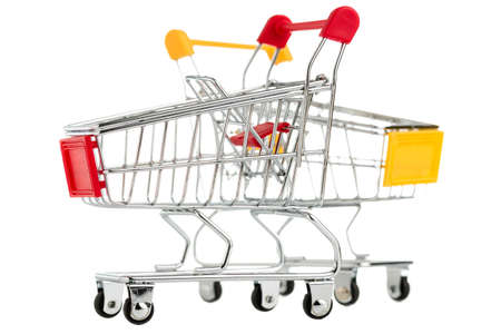 two shopping cart isolated on white background