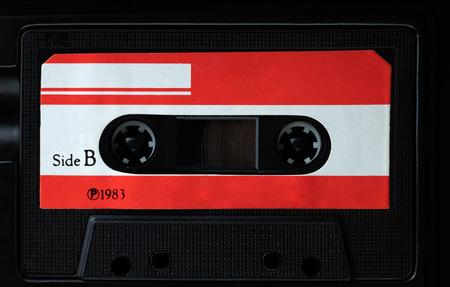 Cassette compacte vintage, Close up set de vieilles cassettes audio Banque d'images