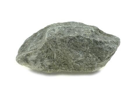Grey granite stone isolated at white background