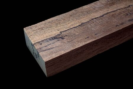 Logs of Crape myrtle wood beautiful pattern for crafts at black background, Asian Satinwood, May tabak
