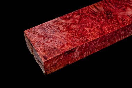 Logs Marfan burl wood striped exotic wooden beautiful pattern for crafts at black background