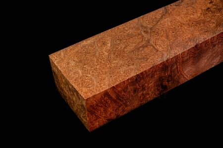 Logs of Crape myrtle burl wood beautiful pattern for crafts at the black background, Asian Satinwood, May tabak