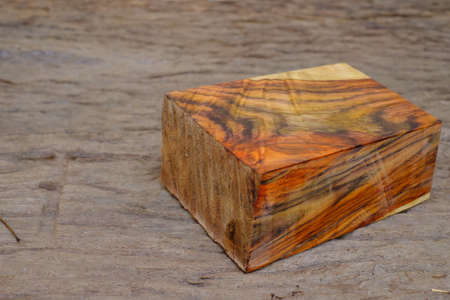 Natural siamese rosewood timber on the old wood Stockfoto