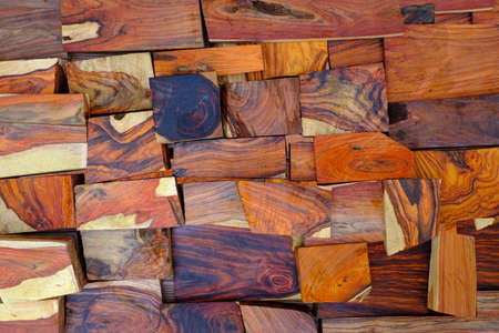 Wall natural rosewood timber background Stockfoto