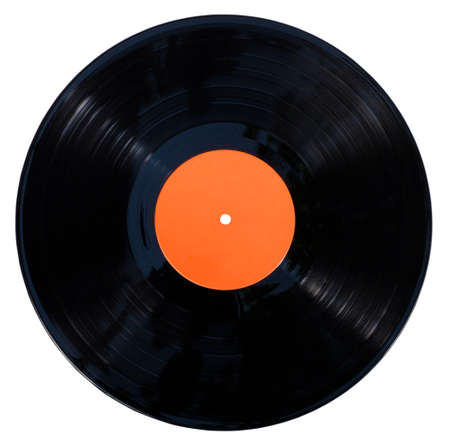 Gramophone vinyl record isolated at the white background