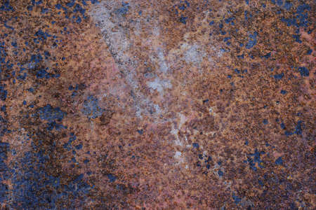 Rust on the surface of the old iron sheet Imagens